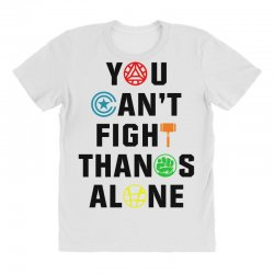 you can't fight thanos alone black All Over Women's T-shirt | Artistshot