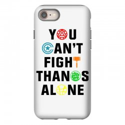 you can't fight thanos alone black iPhone 8 Case | Artistshot
