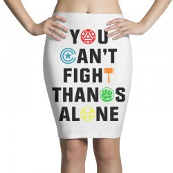 you can't fight thanos alone black Pencil Skirts | Artistshot