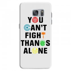 you can't fight thanos alone black Samsung Galaxy S7 | Artistshot