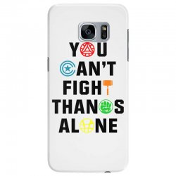you can't fight thanos alone black Samsung Galaxy S7 Edge | Artistshot