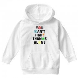 you can't fight thanos alone black Youth Hoodie | Artistshot