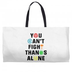 you can't fight thanos alone black Weekender Totes | Artistshot