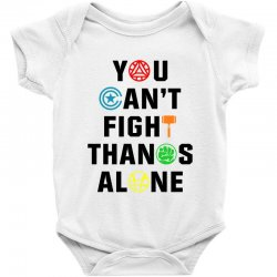 you can't fight thanos alone black Baby Bodysuit | Artistshot
