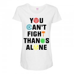 you can't fight thanos alone black Maternity Scoop Neck T-shirt | Artistshot