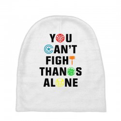 you can't fight thanos alone black Baby Beanies | Artistshot