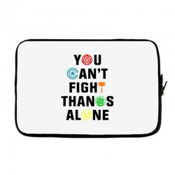you can't fight thanos alone black Laptop sleeve | Artistshot