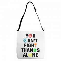 you can't fight thanos alone black Adjustable Strap Totes | Artistshot