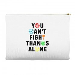 you can't fight thanos alone black Accessory Pouches | Artistshot