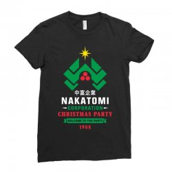 nakatomi corporation christmas party 1988 Ladies Fitted T-Shirt | Artistshot