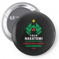 nakatomi corporation christmas party 1988 Pin-back button | Artistshot