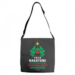 nakatomi corporation christmas party 1988 Adjustable Strap Totes | Artistshot