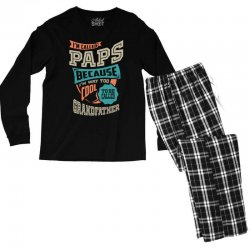 If Paps Can't Fix It Men's Long Sleeve Pajama Set | Artistshot