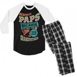 If Paps Can't Fix It Men's 3/4 Sleeve Pajama Set | Artistshot