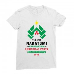 nakatomi corporation christmas party 1988 black Ladies Fitted T-Shirt | Artistshot