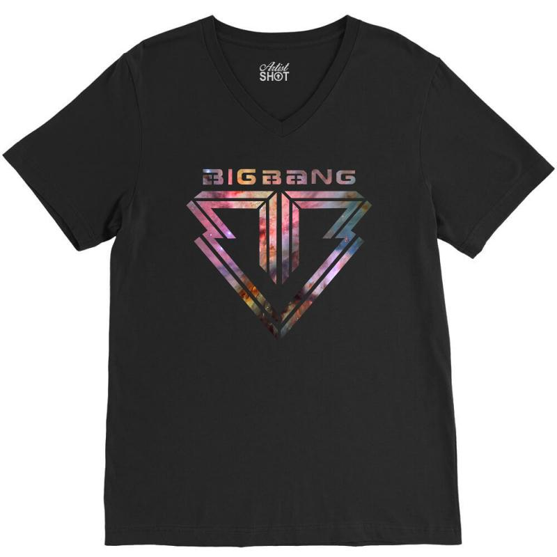 Big Bang K Pop Galaxy V-neck Tee | Artistshot