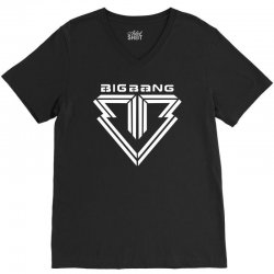 big bang k pop white V-Neck Tee | Artistshot