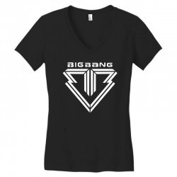 big bang k pop white Women's V-Neck T-Shirt | Artistshot