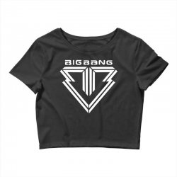 big bang k pop white Crop Top | Artistshot