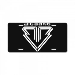 big bang k pop white License Plate | Artistshot