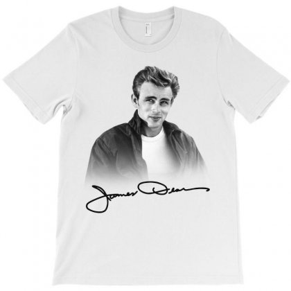 James Dean With Signature T-shirt Designed By Akin