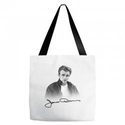 james dean with signature Tote Bags | Artistshot