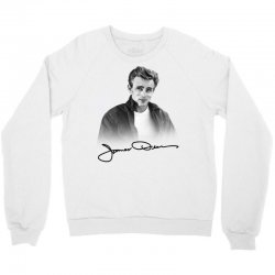 james dean with signature Crewneck Sweatshirt | Artistshot