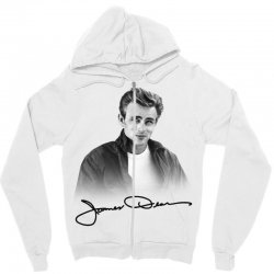 james dean with signature Zipper Hoodie | Artistshot