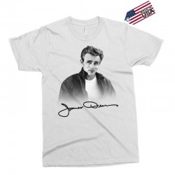 james dean with signature Exclusive T-shirt | Artistshot