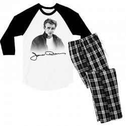 james dean with signature Men's 3/4 Sleeve Pajama Set | Artistshot