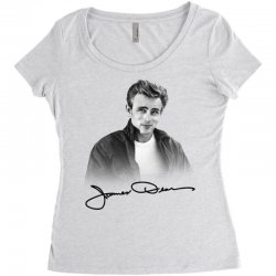 james dean with signature Women's Triblend Scoop T-shirt | Artistshot