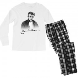 james dean with signature Men's Long Sleeve Pajama Set | Artistshot