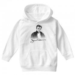 james dean with signature Youth Hoodie | Artistshot