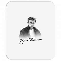 james dean with signature Mousepad | Artistshot