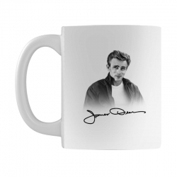 james dean with signature Mug | Artistshot