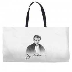 james dean with signature Weekender Totes | Artistshot