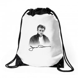 james dean with signature Drawstring Bags | Artistshot