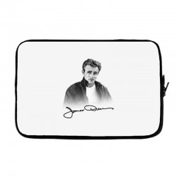 james dean with signature Laptop sleeve | Artistshot