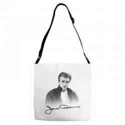 james dean with signature Adjustable Strap Totes | Artistshot
