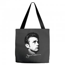 james dean with signature v.2 Tote Bags | Artistshot
