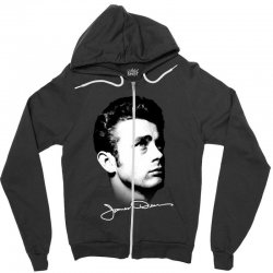 james dean with signature v.2 Zipper Hoodie | Artistshot