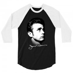 james dean with signature v.2 3/4 Sleeve Shirt | Artistshot