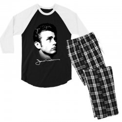james dean with signature v.2 Men's 3/4 Sleeve Pajama Set | Artistshot