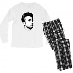 james dean with signature v.2 Men's Long Sleeve Pajama Set | Artistshot