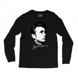 james dean with signature v.2 Long Sleeve Shirts | Artistshot