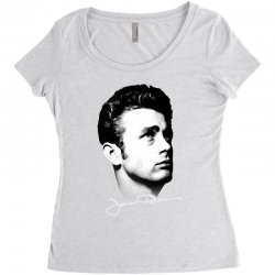 james dean with signature v.2 Women's Triblend Scoop T-shirt | Artistshot