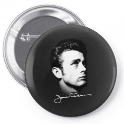 james dean with signature v.2 Pin-back button | Artistshot