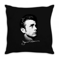 james dean with signature v.2 Throw Pillow | Artistshot