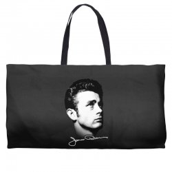 james dean with signature v.2 Weekender Totes | Artistshot