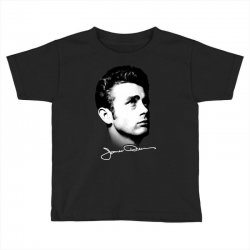 james dean with signature v.2 Toddler T-shirt | Artistshot